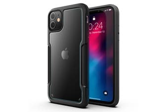 MAXSHIELD Slim Clear Heavy Duty ShockProof Case for iPhone 11-Black