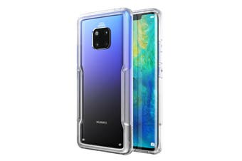 MAXSHIELD Slim Clear Heavy Duty ShockProof Case for Mate 20 Pro Clear