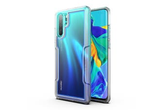 MAXSHIELD Slim Clear Heavy Duty ShockProof Case for P30 Pro Clear Blue