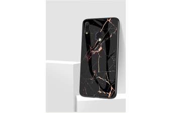 Marble Glass HeavyDuty ShockProof Slim Cover for A70-Black