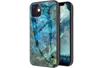 ShockProof Glass Marble Soft Case for iPhone 11-Green