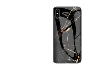 ShockProof Glass Marble Soft Case for iPhone X/XS-Black