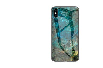 ShockProof Glass Marble Soft Case for iPhone X/XS-Green