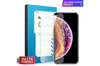 MAXSHIELD Matte Tempered Glass Screen Protector For Apple iPhone XS