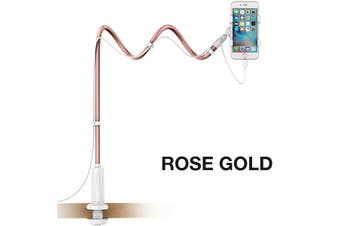 Extended Desktop Phone Holder Bed Long Arm Lazy Stand Mount Mobile iPhone Galaxy-Rose