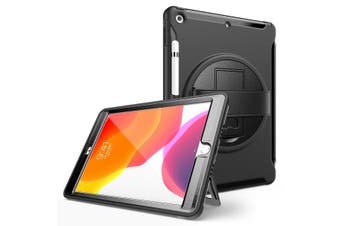 Black ShockProof 360 Rotating Stand Heavy Duty Case Cover for iPad Pro 10.5Inch 2018