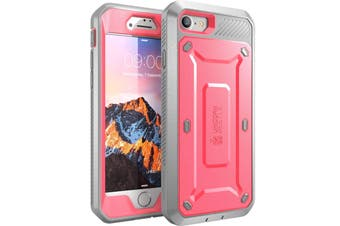 SUPCASE Heavy Duty TOUGH Full-body Rugged Case for iPhone 8-Pink