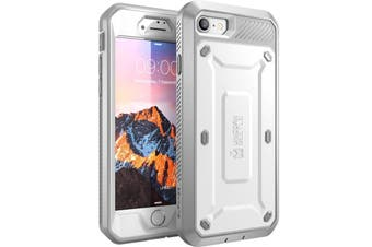 SUPCASE Heavy Duty TOUGH Full-body Rugged Case for iPhone 8-White
