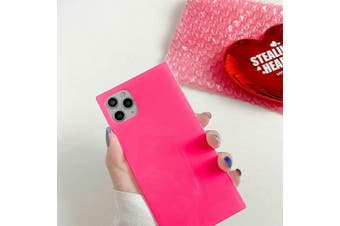 For iPhone 11 Pro Max XS MAX X XR SE 7 8 Plus Case Silicone Shockproof Cover-iPXS-Pink-Caseonly+1PS