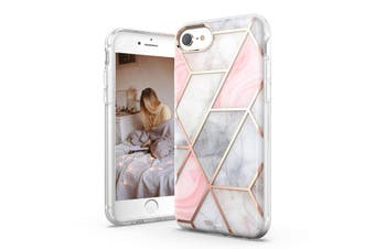 TITSHARK Marble Pattern ShockProof Tough High-quality stylish Case Cover For iPhone SE-Pink