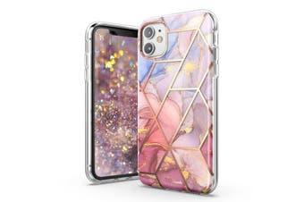 TITSHARK Marble Pattern ShockProof Tough High-quality stylish Case Cover For iPhone 11-Purple