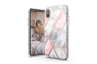 TITSHARK Marble Pattern ShockProof Tough High-quality stylish Case Cover For iPhone X/XS-Pink