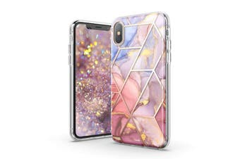 TITSHARK Marble Pattern ShockProof Tough High-quality stylish Case Cover For iPhone X/XS-Purple