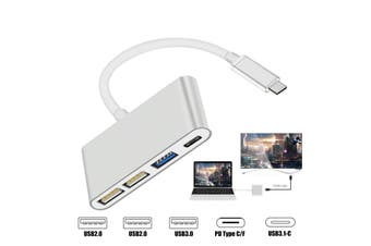 "4 in 1 Multi-port Type C Hub USB 3.0 USB 2.0 USB-C charging Adapter MacBook Pro 13"" 15"""