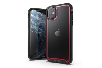 VERTEch Ultra Hybrid ShockProof Slim Hard Cover for iPhone 11 Pro Max-Black Red