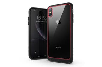 MAXSHIELD Heavy Duty ShockProof Slim Cover for iPhone X/XS-Red