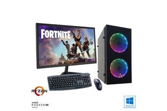 "Esports Gaming PC Bundle: Allied Javelin Ryzen 3 3100 | RX 570 4GB + 22"" Monitor"