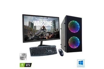 "Intel 8-Core Gaming PC: Allied Javelin Core i7 10700 | RTX 2060 6GB + 27"" Monitor Bundle"
