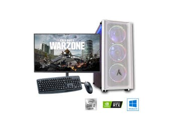 "Intel 8-Core High End Gaming PC Bundle: Allied Patriot Core i7 10700 | RTX 2080 Super 8GB | 27"" Monitor"
