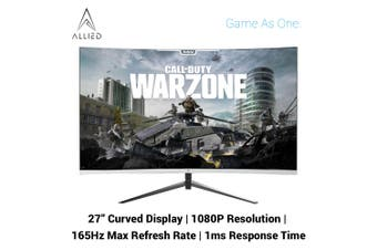 """Allied Expanse 27"""" Curved 1ms 165Hz 1080P FreeSync Gaming Monitor"""