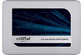 Crucial MX500 500GB SATA 2.5-inch 7mm (with 9.5mm Adapter) Internal SSD, 500, CT500MX500SSD1