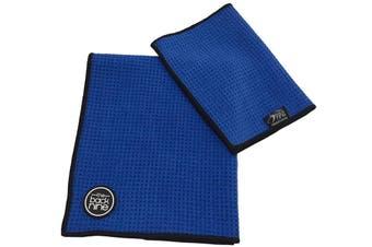 Aqua Pro Waffle Weave Golf Towel - Twin Pack - Royal