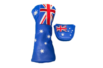 Australian Flag Twin Set - Driver & Tradional Mallet Cover