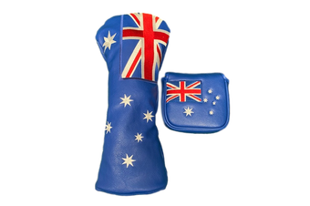 Australian Flag Twin Set - Driver & Square Mallet Cover