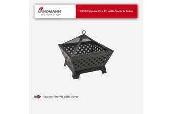 Landmann Square Fire Pit with Cover & Poker - 22103