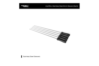 myGRILL Stainless Steel 6mm Skewer (Each)