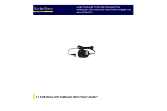 BarbeSkew 240V Australian Mains Power Adapter (use with BSCM-1101)