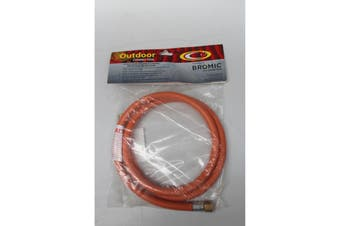 Low Pressure Gas Hose 1200mm Length with 3/8 BSPM x 1/4 BSPM