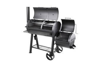 Hark Texas Pro Pit - Offset Smoker - HK0527, FIRE SALE, American Style Offset Smoker, Wood or Charcoal Smoker/Grill. King of the Backyard BBQ's