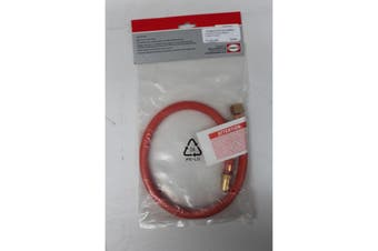 "Low Pressure Gas Hose 600mm Length with 3/8"" LH Cylinder Connection to High Pressure Stove (coarse Thread)"
