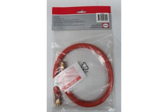 "Low Pressure Gas Hose 600mm Length with 3/8"" BSP (Male) - 3/8"" SAE (Female)"