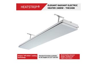 HEATSTRIP 2400W, 240V, 50Hz, 10A, IP55 - Elegant Radiant Electric Heaters (THE2400)