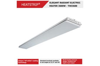 HEATSTRIP 3600W, 240V, 50Hz, 15A, IP55 - Elegant Radiant Electric Heaters (THE3600)