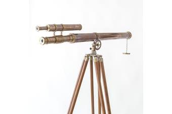 Double Barrel Half Moon One Meter Telescope On Tripod