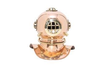 Small Deep Sea Diving Helmet in Copper