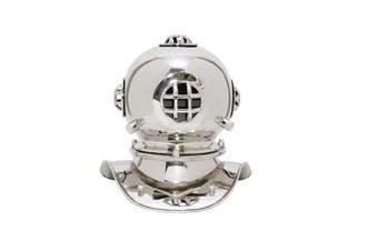 Small Deep Sea Diving Helmet in Chrome