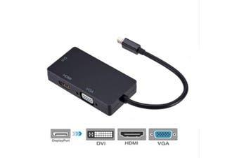 Mini DisplayPort (DP) Male to Female HDMI + VGA + DVI Adapter Cable
