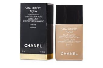 Chanel Vitalumiere Aqua Ultra Light Skin Perfecting Makeup SPF15 - # 50 Beige 30ml/1oz