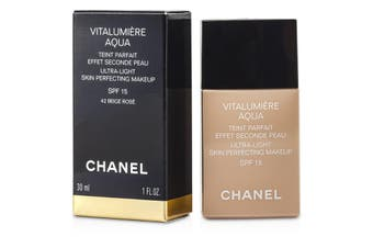 Chanel Vitalumiere Aqua Ultra Light Skin Perfecting Makeup SPF15 - # 42 Beige Rose 30ml/1oz