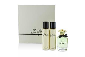 Dolce & Gabbana Dolce Coffret: EDP Spray 75ml/2.5oz + Body Lotion 100ml/3.3oz + Shower Gel 100ml/3.3oz 3pcs