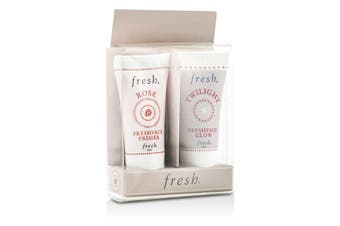 Fresh Prime & Glow Set: 1x Mini Rose Freshface Primer  1x Mini Twilight Freshface Glow 2x5ml/0.17oz