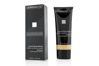 Dermablend Leg and Body Makeup Buildable Liquid Body Foundation Sunscreen Broad Spectrum SPF 25 - #Fair Ivory 10N 100ml/3.4oz