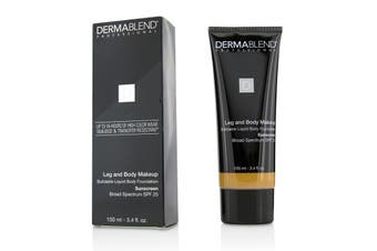 Dermablend Leg and Body Makeup Buildable Liquid Body Foundation Sunscreen Broad Spectrum SPF 25 - #Tan Honey 45W 100ml/3.4oz