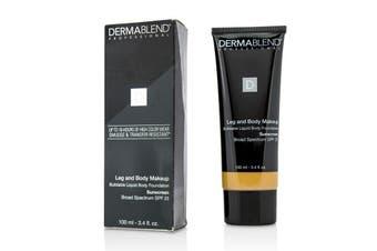 Dermablend Leg and Body Makeup Buildable Liquid Body Foundation Sunscreen Broad Spectrum SPF 25 - #Medium Golden 40W 100ml/3.4oz