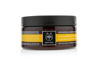 Apivita Nourish & Repair Hair Mask with Olive & Honey (For Dry-Damaged Hair) 200ml/6.81oz