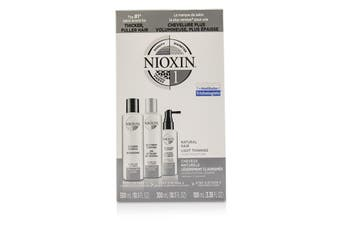 Nioxin 3D Care System Kit 1 - For Natural Hair  Light Thinning  Light Moisture 3pcs